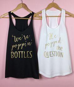 Chemises de partie de Bachelorette. Chemises par TrexAndUnicorn