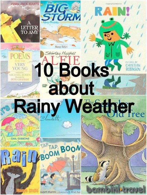 10 Books about Rainy Weather | perfect for a Preschool Weather Unit or Spring Time | Bambini Travel