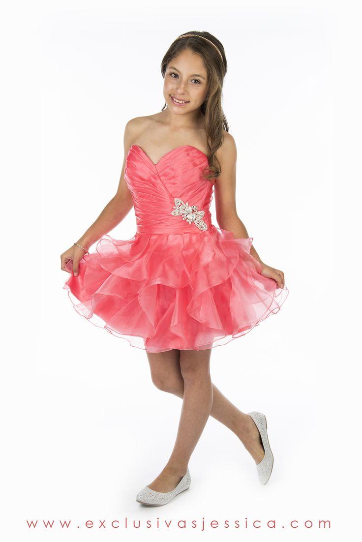 Jessica Vestidos #fiesta #gala #moda #drees #vestidos #juniors #graduación #graduaciones #mexico #DF #15Años #fifteen #graduation #ropa #cool #vestido #corto #color #rosa #coral #pastel #claro #pink