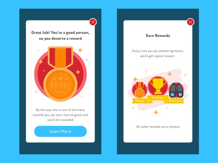 Rewards Pop Up Screens by Ibnu Mas'ud - Dribbble