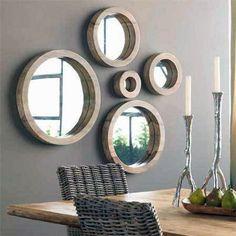wall decor round mirrors - Google Search