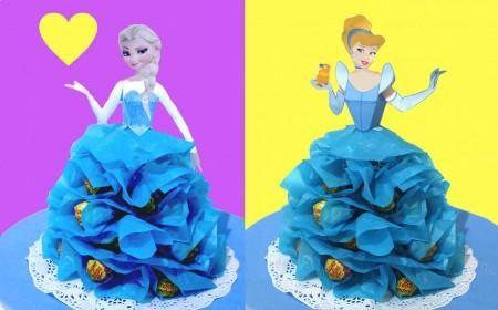 Centro de mesa de Cenicienta o Elsa o Ana o cualquier princesa | Aprender manualidades es facilisimo.com
