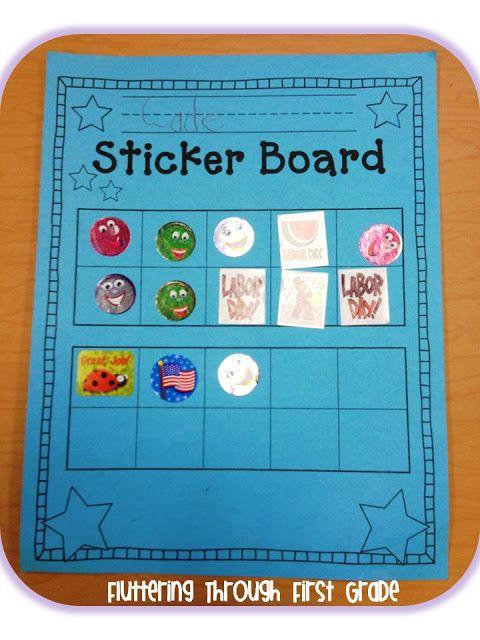 Stick to Good Behavior ~ Sticker Board Ten Frames *Freebie*