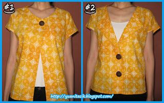 jahitan #5 : batik duo gaya ; sisa bahan dari blus lipit