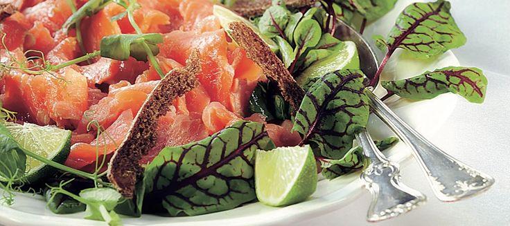 Siideri-limelohi ja ruislastut   Alkuruoat   Reseptit – K-Ruoka