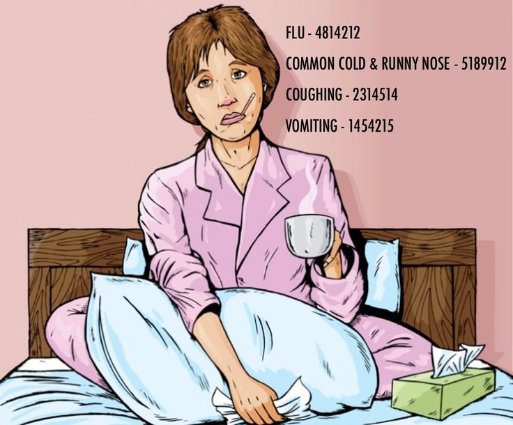 Grabovoi number sequence for illness:  FLU - 4814212  COMMON COLD & RUNNY NOSE - 5189912 COUGHING - 2314514  VOMITING - 1454215