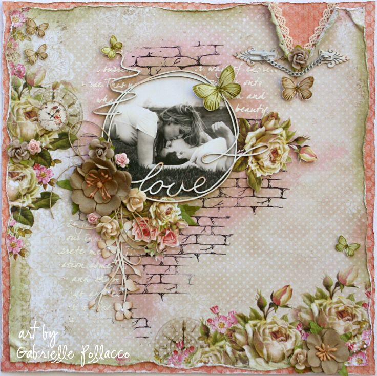 Love **Page Kit & Video Tutorial - THe Scrapbook Diaries** - Gabrielle using Lemoncraft House of Roses