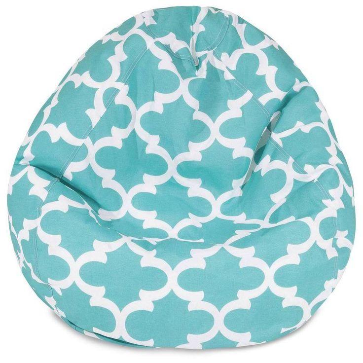 Small Bean Bag Chair Kids Room Seating Lounger Children Sack Trellis Pattern     eBay