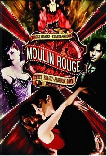 Directed by Baz Luhrmann.  With Nicole Kidman, Ewan McGregor, John Leguizamo, Jim Broadbent. A poet falls for a beautiful courtesan whom a jealous duke covets in this stylish musical, with music drawn from familiar 20th century sources.