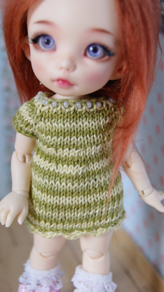 Hand knitted dress for Pukifee Lati Yellow etc. by CocoDolls