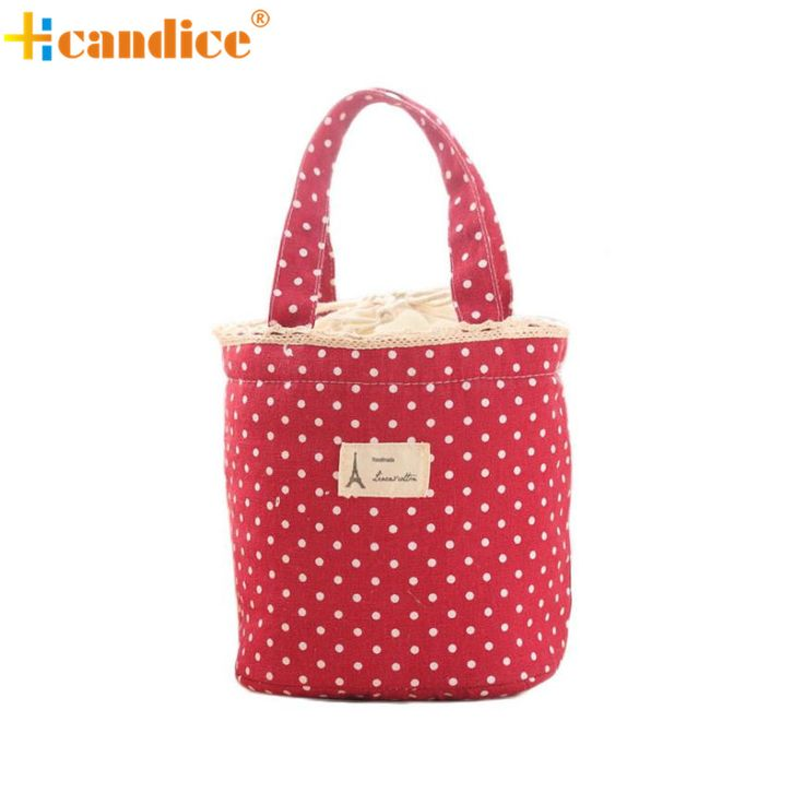 Naivety 2016 New Portable Thermal Insulated Lunch Bag Cute Tote Bento Container Pouch JUL31 drop shipping