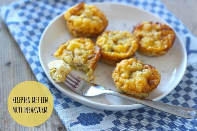 We zien regelmatig op Pinterest kleine hapjes die gemaakt zijn in een muffinvorm. Dat zijn dan kleine hartige taartjes, lasagnehapjes of mini tortilla's.
