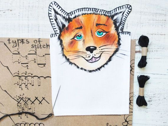 DIY Kit Fox Patch Unique Gifts for girlfriend Cute by PumpkinStore
