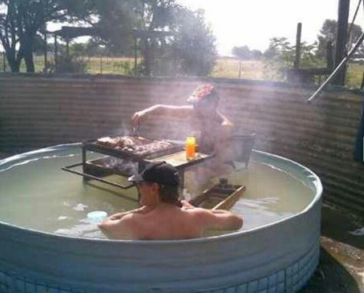 this is #calicountry style of a heated pool.