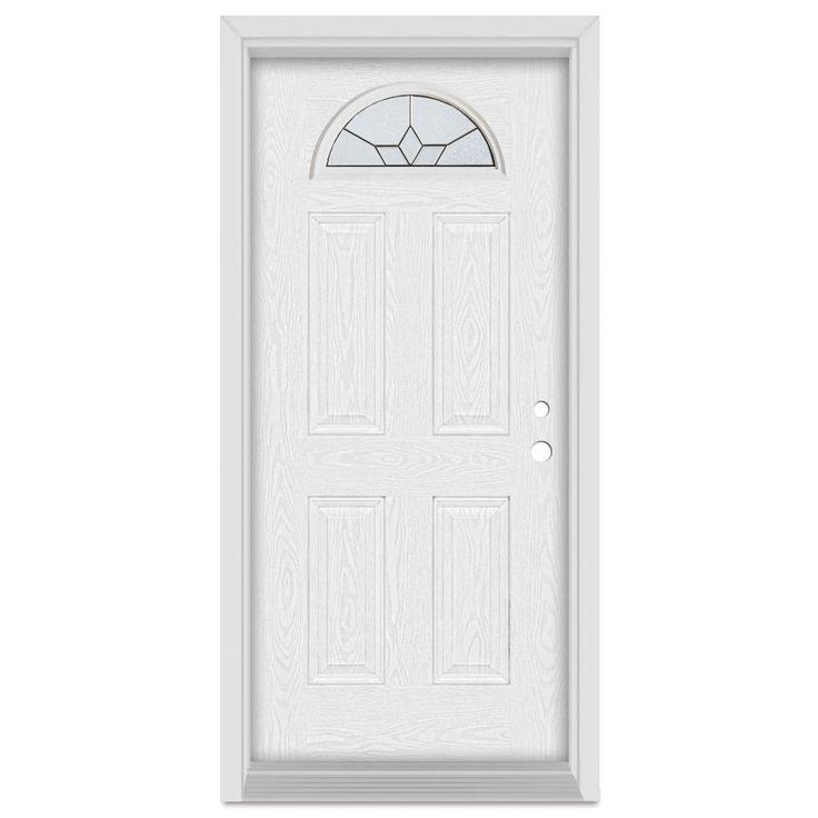 Stanley Doors 33.375 in. x 83 in. Geometric Left-Hand Half Moon Lite  sc 1 st  Pinterest & Best 25+ White oak front doors ideas on Pinterest   House front ... pezcame.com