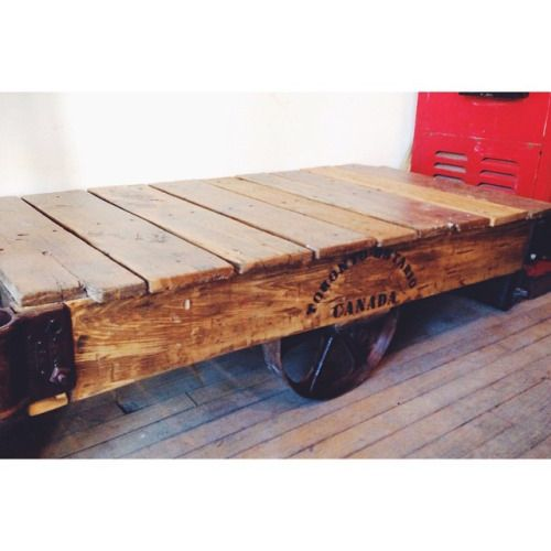 Vintage Foundry Cart, Coffee Table