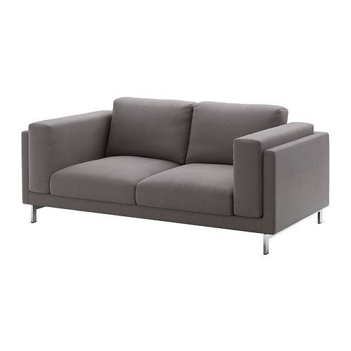 NOCKEBY Loveseat - Risane gray, chrome plated - IKEA