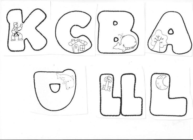 Imágenes de moldes de letras en foami - Imagui