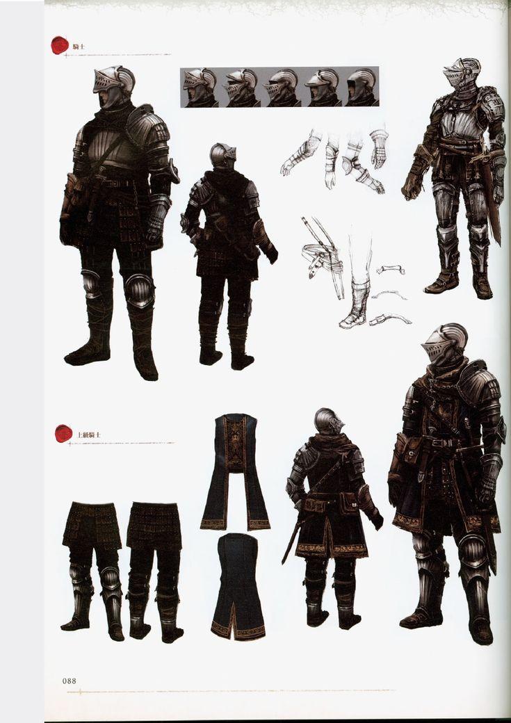 Dark Souls Character Design Process : Best character design knights peasants armor