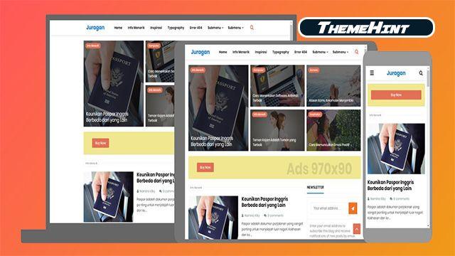 Juragan Premium Blogger Template Free Download By Themehint In 2020 Free Blogger Templates Templates Free Download Blogger Templates