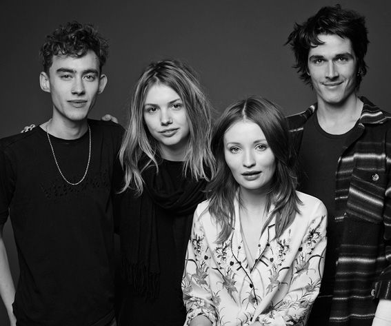 Cast God Help the Girl ( Olly Alexander, Hannah Murray, Emily Browning and Pierre Boulanger )