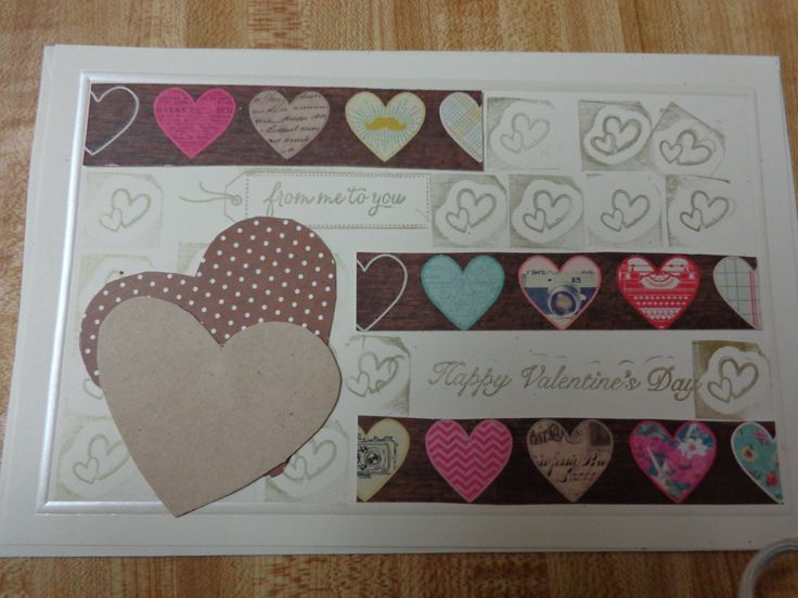 One of my 2014 homemade VALENTINE cards....all are addressed and ready to mail for Friday, February 14th.