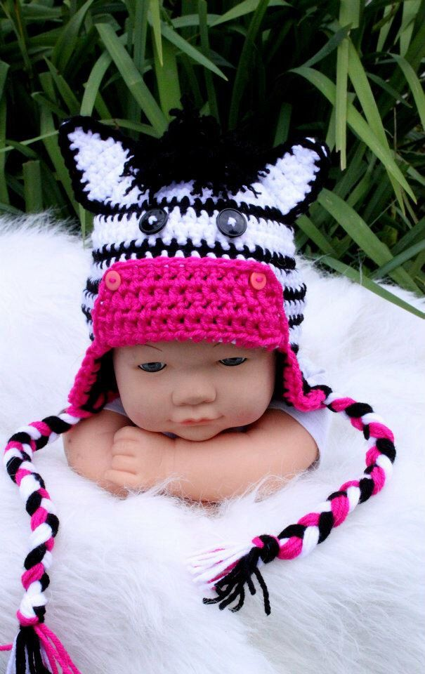 Crochet Zebra Hat : ... Crochet Zebra on Pinterest Crochet, Crochet Hats and Hat Patterns