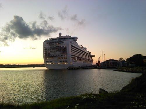 Cruise Ship Getting Ready to Leave Sydney Nova Scotia