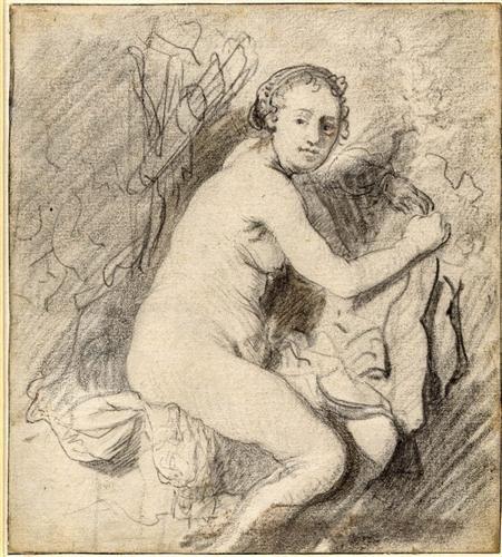 Diana at the Bath - Rembrandt