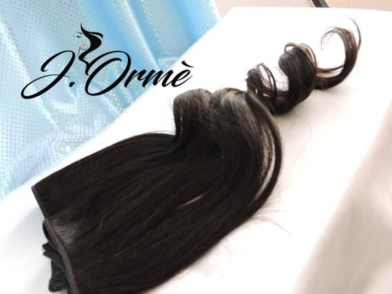 100% Remy Human Hair Extensions Natural Black Lush Full Thick Full Set Double Wefted Clip in Hair E