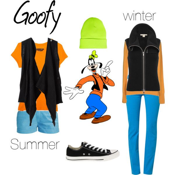 What I would wear to #Disney to be like #Goofy. The Summer outfit would also work for spring and fall.