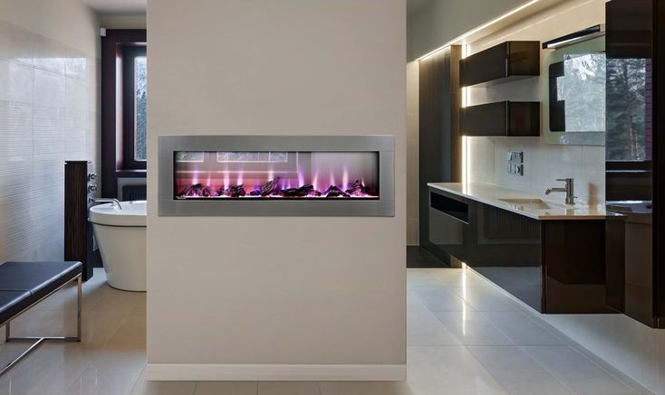 CLEARion™ The First Truly See Thru Electric Fireplace #fireplace