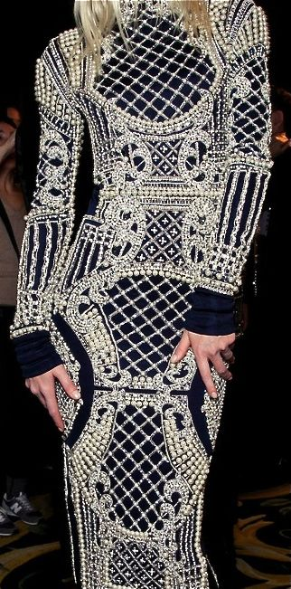 Balmain...you have to respect the intricate detail of this artwork...yes I said artwork...