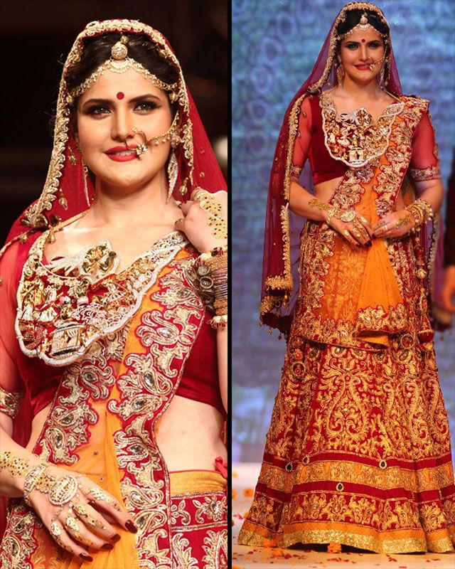 Zarine Khan walked the ramp for Swarovski.Bollywood actress recent pic on Biscoot Showtym.