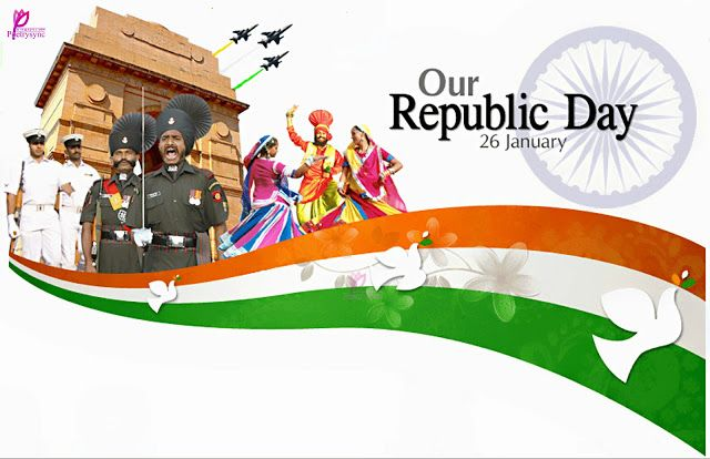 Happy Republic 26 Jan Day Wishes SMS Messages Picture 26 January Happy Republic Day of India HD Wallpaper Image