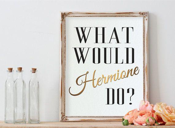 Harry Potter arte, Hermione, póster inspirador, decoración para el hogar, qué…