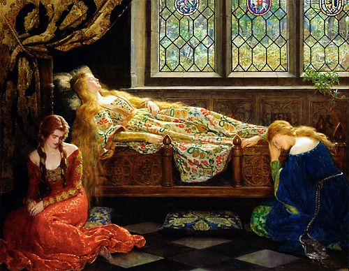 The Sleeping Beauty (1921) by John Collier (1850-1934). Oil on canvas. Source - Wikimedia.