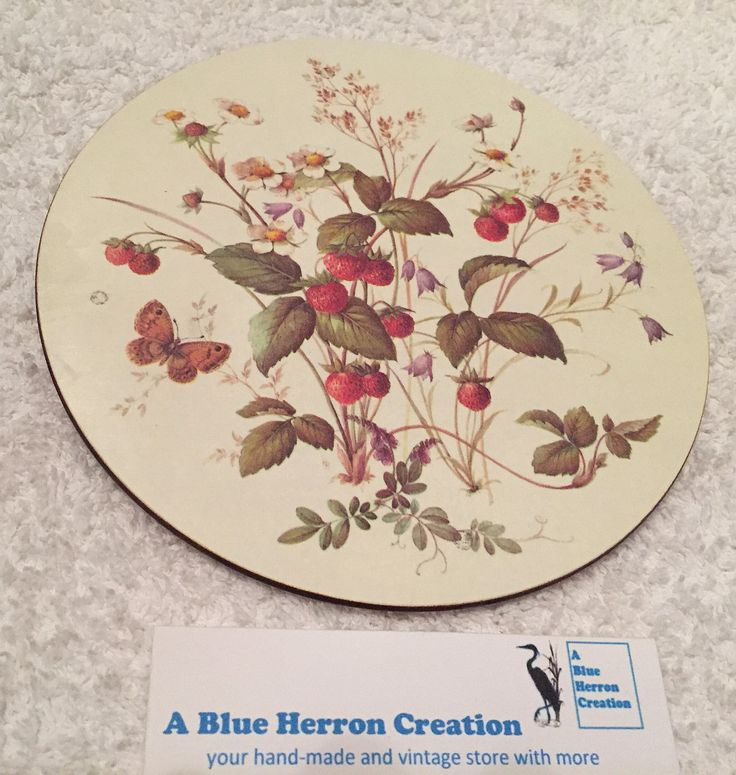 Vintage: Pimpernel Melamine Teapot Stand, Wild Strawberry, Trivet, Celluware Limited, Original Box in Shrink Wrap, Made in England by ABlueHerronCreation on Etsy