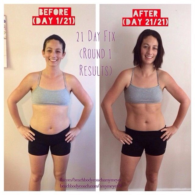 Before and After results from the 21 Day Fix!!! 3 inches ...
