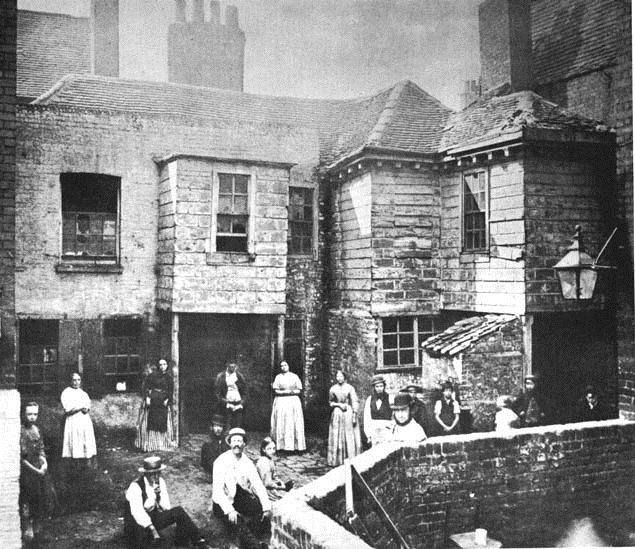 Row of houses, late 1800s London