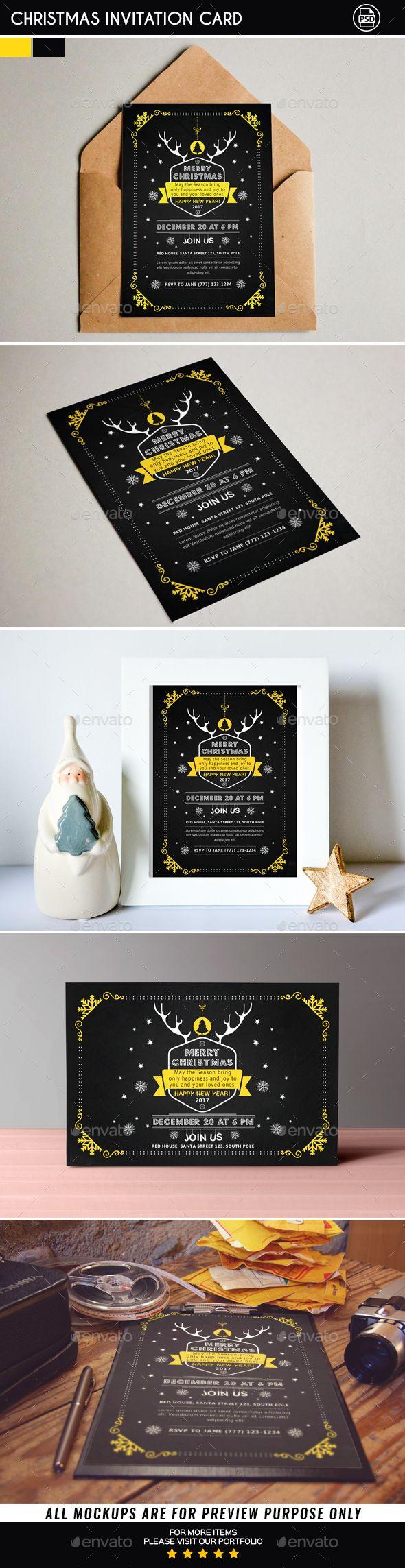 Christmas Invitation Card Christmas Invitation Card Christmas Invitations Christmas Card Template
