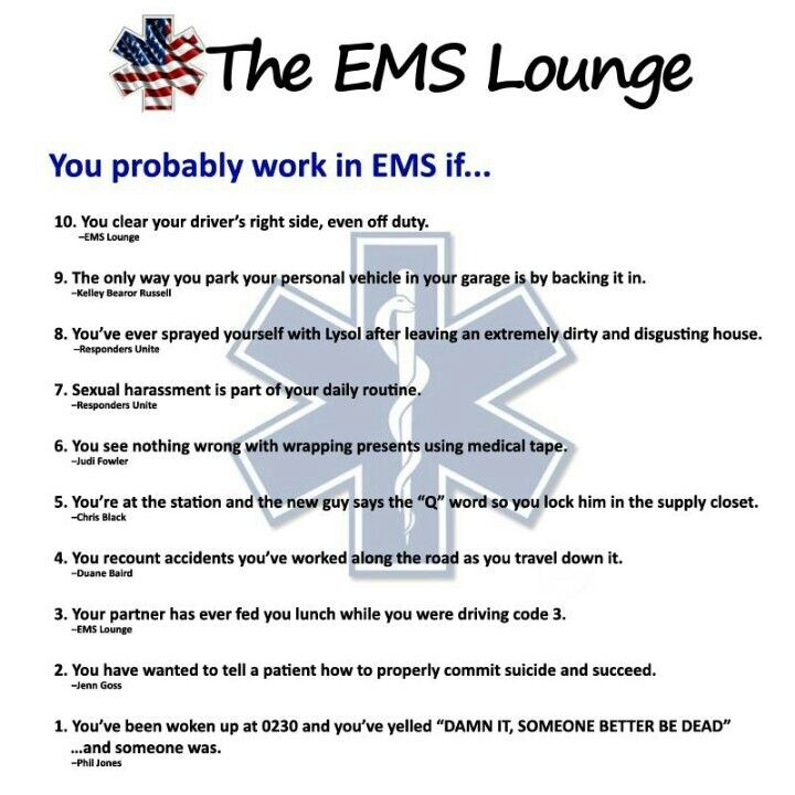 EMS Humor                                                                                                                                                     More