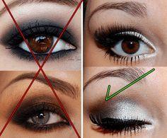 Maquiagem para quem tem olhos pequenos e fundos