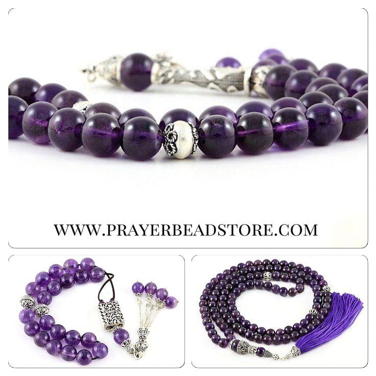 Amethyst Prayer Beads #mala #prayerbeads #worrybeads