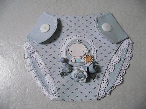 carte de naissance en couche culotte