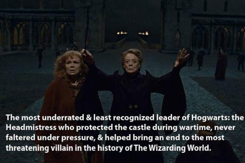 Minerva McGonagall, the best teacher and headmistress Hogwarts has probably ever had.