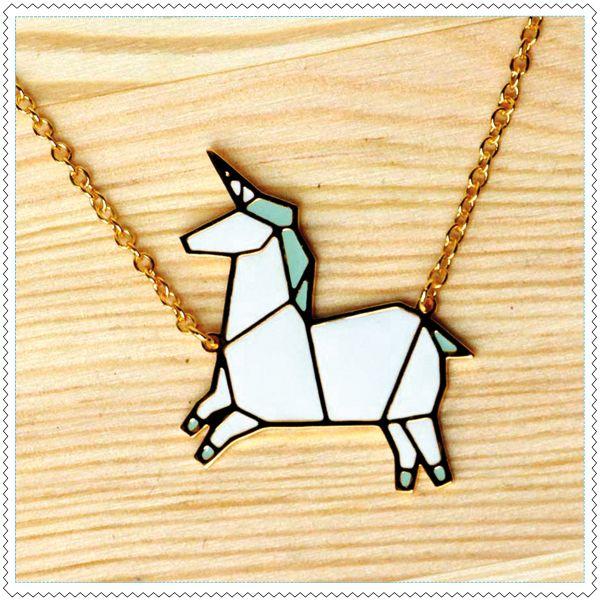 "Image of Collier ""Tangram Unicorn"""
