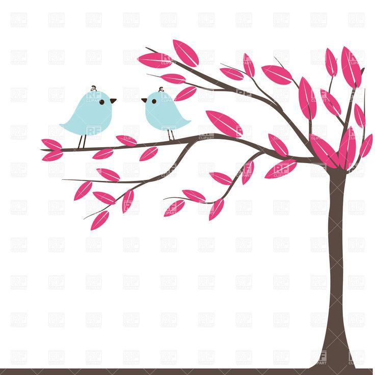 Wedding Tree Vector: Tree With Birds Clipart Free