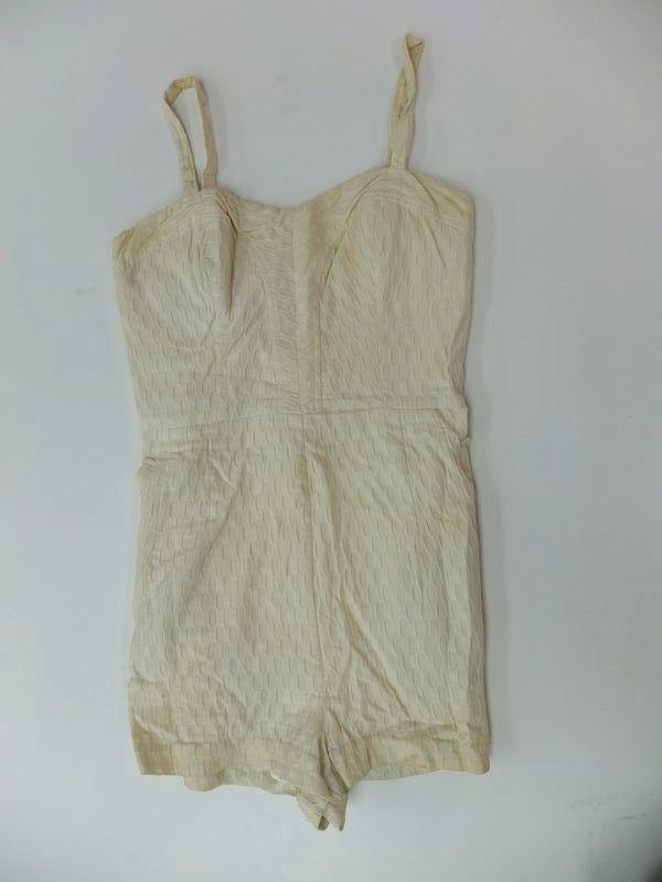 Beige one piece swimsuit #10-4