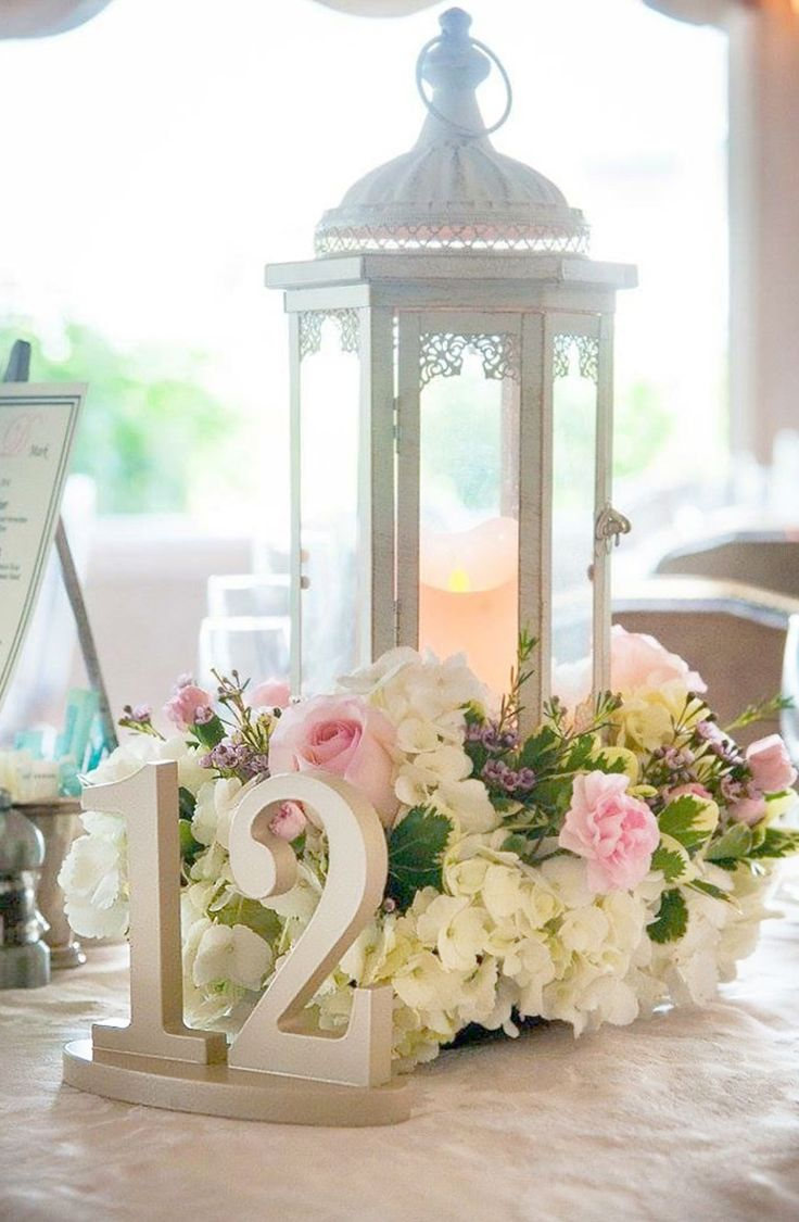Best 25 lantern wedding centerpieces ideas on pinterest lantern make your table numbers visible and cute unique pieces for your wedding junglespirit Image collections
